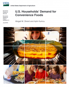 Cover photo for USDA Publication: U.S. Households' Demand for Convenience Foods