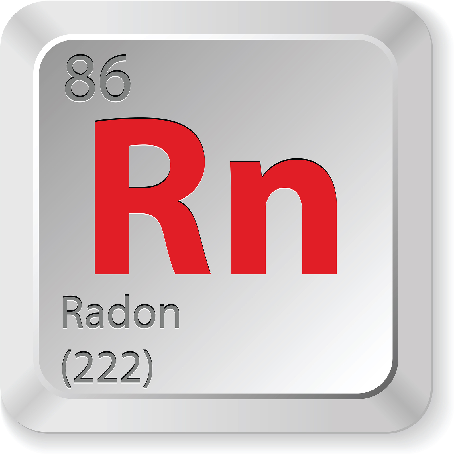 Image of radon periodic table number
