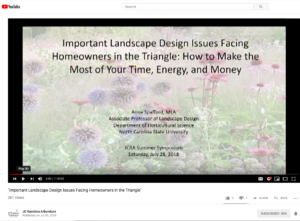 Cover Slide for Landscape Design Webinar
