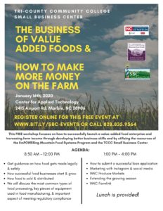 Cover photo for Free Workshop at Tri-County Community College Small Business Center