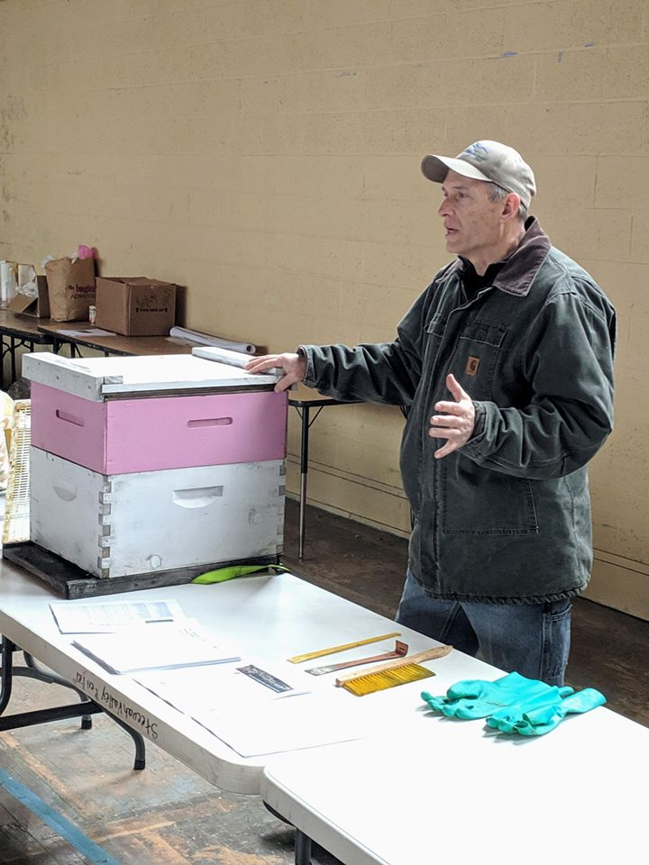 Keith Wood Discussing Bee Keeping