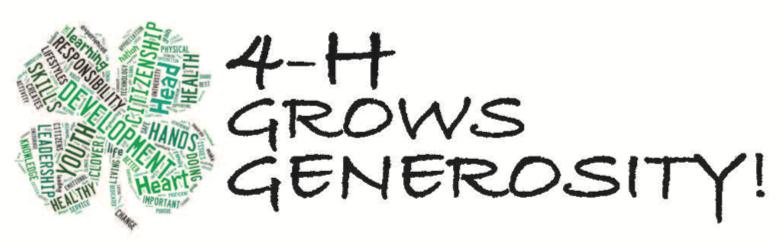 4-H Grows Generosity