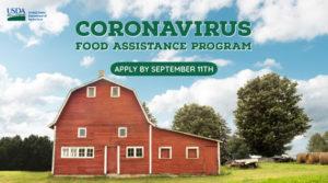 Cover photo for Deadline Approaching for USDA's Coronavirus Food Assistance Program