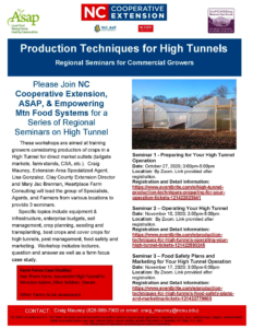 Cover photo for Production Techniques for High Tunnels for Commerical Growers