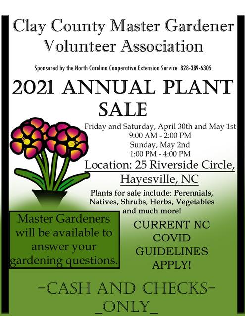 Master Gardener Volunteer 2021 Annual Plant Sale